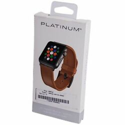 Kyпить Platinum Leather Watch Strap for Apple Watch 44mm Apple Watch 42mm Old Saddle на еВаy.соm