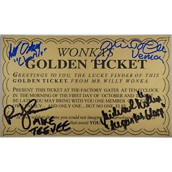 Kyпить WONKA GOLDEN TICKET AUTOGRAPHED (SIGNED) BY FOUR, PLUS EXTRAS! на еВаy.соm