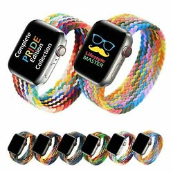 Kyпить Braided Solo Loop Elastic Band Strap For Apple Watch iWatch SE Series 6 5 4 3 21 на еВаy.соm