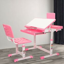 Kyпить Student Desk and Chair Set Height Adjustable Children School Study Desk Pink на еВаy.соm
