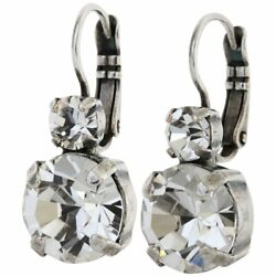 Kyпить Mariana Silver ON A CLEAR DAY Round Everyday Sparkly Swarovski Crystal Earrings на еВаy.соm