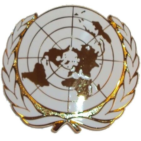 img-OFFICIAL ISSUE OTHER RANKS UNITED NATIONS ISSUED CAP | BERET BADGE UN INSIGNIA