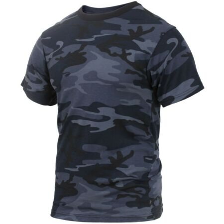 img-T-shirt Camo Midnight Dark Blue Cotton Poly Blend Camouflage Rothco 3830