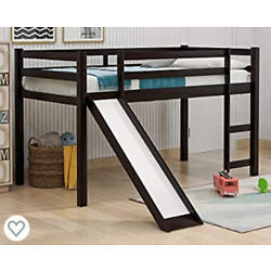 Kyпить Loft Twin Bed Frame With Slide - New In Box - Espresso Color Kids Bedroom на еВаy.соm