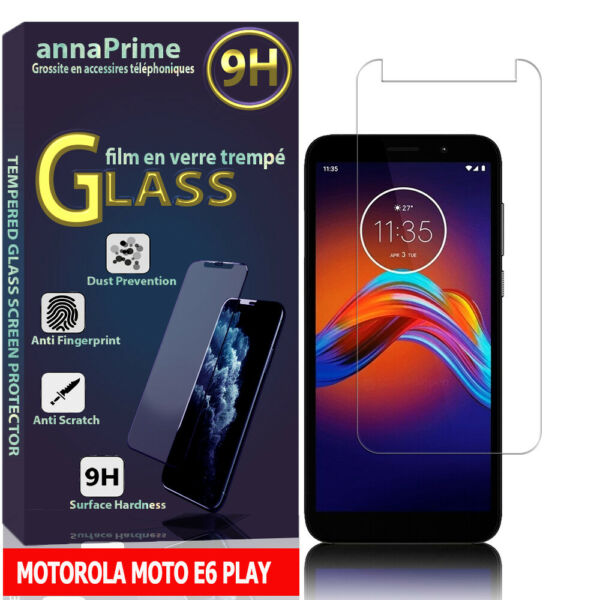 FrankreichGlass Screen Protector Film Toughened Glass For Motorola Moto E6 Play 5.5