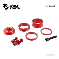Anodized BLUE Wolf Tooth BLING KIT Headset Top Cap /& Spacers