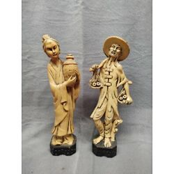 Kyпить Vintage Resin Asian Man and Woman figurines на еВаy.соm