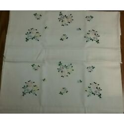 Kyпить Bucilla White Pillowcases Pair Hand Embroidered Multi Color Tiny Flowers Leaves на еВаy.соm