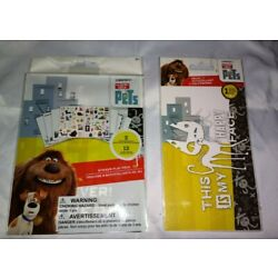 The Secret Life Of Pets Sticker Book & ''THIS IS MY HAPPY FACE'' DECAL (NEW)