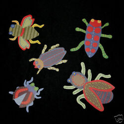 RARE Pottery Barn Kids Max Bugs Beetles Insects Wallies Cutouts Decals!