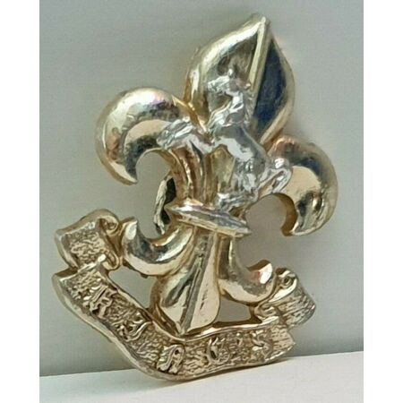 img-Kings Regiment Manchester Liverpool anodised staybrite badge left side 1970-99