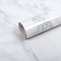 Light Grey Marble Self-Adhesive Wallpaper Waterproof and Greaseproof Home Decor