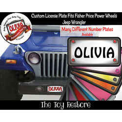 Kyпить Personalized License Plate Decal Sticker Fits Fisher Price Power Wheels Jeep на еВаy.соm