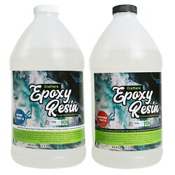 Kyпить Crafters Clear Epoxy Resin for Small Castings, Art and Coatings  - 1 Gallon Kit на еВаy.соm