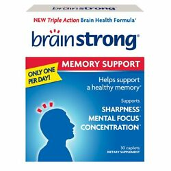 Brainstrong Memory Support Capsules   30 Count   Pack of 4
