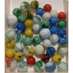 Kyпить 40 Vintage Marbles Pincer & Wales Red Yellow Blue Nice Colorful Collection на еВаy.соm