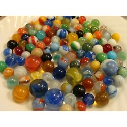 Kyпить 100 Vintage Marbles Used Old Time Toys Collect Display In Your Jar #2 Free Ship на еВаy.соm