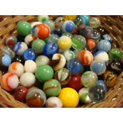 Kyпить 100 Vintage Marbles Used Old Time Toys Collect Display Decor Your Jar #4 Sweet на еВаy.соm