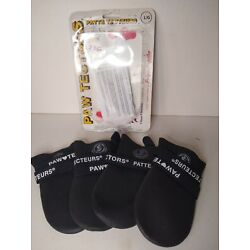 Paw Tectors Dog Shoes Boots Large Black Waterproof