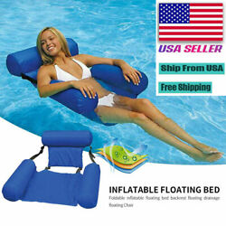 Kyпить Inflatable Foldable Floating Bed Float Chair Beach Swimming Pool Raft Water Toy на еВаy.соm