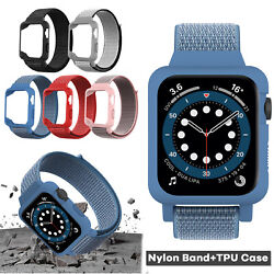 Kyпить For Apple Watch Series SE/6/5/4/3 38/40/42/44mm iWatch Band Nylon Strap+TPU Case на еВаy.соm