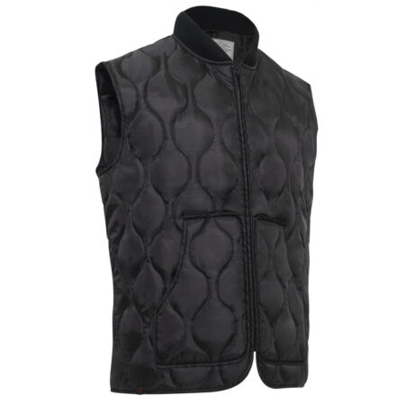 img-Military Quilted Woobie Vest Black Rothco 10434