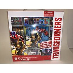 New Transformers Sticker Kit & Pad-Over 1000 Stickers- Hasbro-Optimism Prime