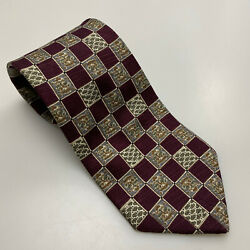 BROOKS BROTHERS MAKERS MEN'S SILK TIE HANDMADE IN USA WOVEN IN ENGLAND Z04-39