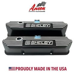Ford FE Tall Shelby Valve Covers - Black - Die-Cast Aluminum - Ansen USA