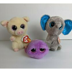 "Kyпить TY Beanie Boos Plush Stuffed Animals Lot Of 3 Peanut, Piggledy, Slow-poke 6"" Inc на еВаy.соm"