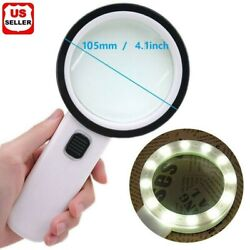 Kyпить 30X Jumbo Handheld Magnifying Glass w/ 13 Bright LED Light Illuminated Magnifier на еВаy.соm