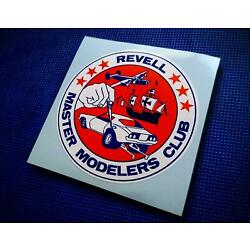 Vintage 70's Style   REVELL MASTER MODELER'S CLUB   Sticker   Decal