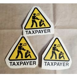 TAXATION IS THEFT Bumper Stickers Lot of 3 FAIR TAX ABOLISH THE IRS DEEP STATE