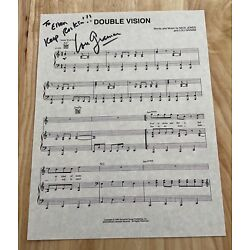 Kyпить LOU GRAMM FOREIGNER Hand Signed Autographed Sheet Music ~ DOUBLE VISION на еВаy.соm
