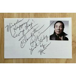 Kyпить CLAUDETTE ROBINSON MIRACLES  Signed Twice 3x5 Index Card ~  Smokey Motown Photo на еВаy.соm