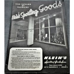 Vintage 1950 Klein's Sporting Goods Catalog Reels Poles Lures Baits Knives