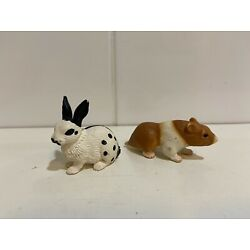 Kyпить Schleich HAMSTER Brown Orange & White  and Rabbit Retired на еВаy.соm