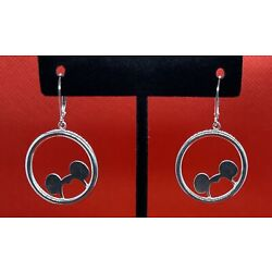 Kyпить Disney JACMEL .925 Sterling Silver Mickey Mouse Dangle Earrings на еВаy.соm