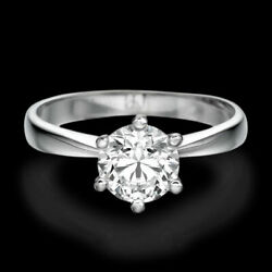 Kyпить 0.50 CT Solitaire Round Cut Diamond Engagement Ring 14K White Gold F/VS2 на еВаy.соm