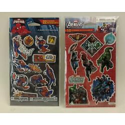 Marvel Avengers Assemble! and Spiderman Sticker packs 40 stickers