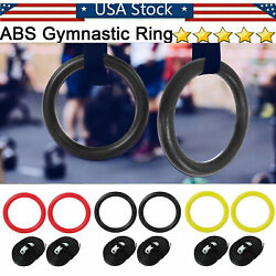 ABS Gymnastic Rings Straps Gym Strength Training Ring Fitness Push up