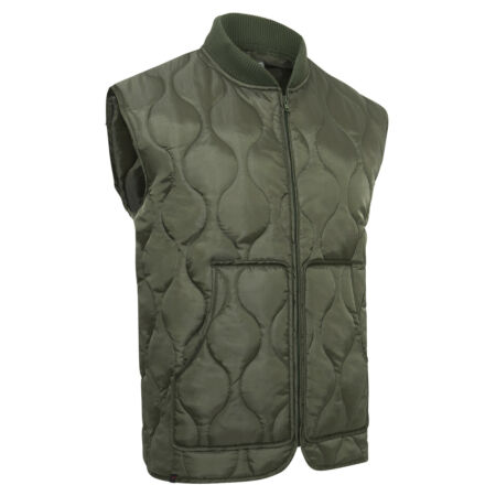 img-Military Quilted Woobie Vest Olive Drab Green Rothco 10431