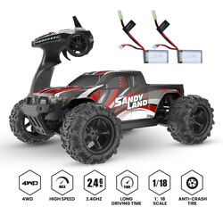 4WD 1:18 Scale RC Cars High Speed Remote Control Car 2.4G Off Road Monster Truck