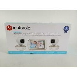 Motorola Video Baby Monitor - 2 Wide Angle HD Cameras 5-Inch MBP50-G2 Open box