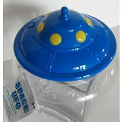 Blue UFO Light Up Spaceship with cool 1950s sound effect
