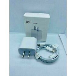 20W iPhone charger Fast USB cable & wall cube For IPHONE 7 8 Plus 11 12 Pro MAX
