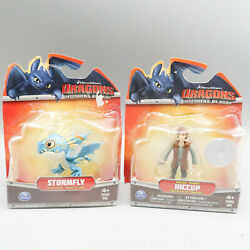 How To Train Your Dragon Hiccup Dragon Trainer & Stormfly Blue Action Figure lot