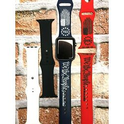 TSB WE THE PEOPLE Distressed Engraved Silicone Watch Band Strap Comp/ Apple