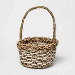 Threshold Easter square seagrass basket natural