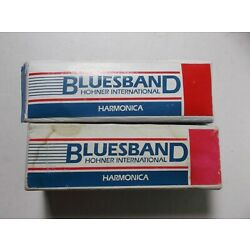 2 Hohner Bluesband International 1501 Harmonicas C  in Box with Instructions